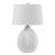 150 Watt Ceramic Frame Table Lamp with Drum Shade, White - BM224810