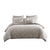 10 Piece King Polyester Comforter Set with Jacquard Print, Gray - BM225157