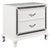 Wooden Nightstand with Faux Crystal Accents and 2 Drawers, White - BM225823