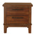 Wooden Nightstand with Chamfered Legs and 2 Spacious Drawers, Brown - BM225824