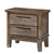 Wooden Nightstand with Chamfered Legs and 2 Spacious Drawers, Light Brown - BM225825