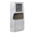 2 Door Aluminum Cabinet with Open Compartment and Rivet Accents, Silver - BM225863