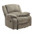 Fabric Upholstered Rocker Recliner with Pillow Arms, Taupe Brown - BM226475