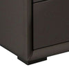 Leatherette Wooden Nightstand with 2 Drawers, Taupe Brown - BM226959