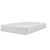 Fabric Upholstered California King Mattress with Memory Foam Layer, White - BM227229