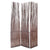 3 Panel Willow Panel Screen with Metal Hinges, Natural Brown - BM228615