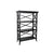 X Frame Transitional Wooden 3 Tier Book Stand, Black - BM229407