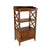 X Frame Wooden Rack with 2 Drawers and Open Shelf, Brown - BM229418
