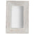 Rectangular Shape Wall Mirror with Wooden Frame, Distressed White - BM229432