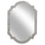 Wooden Frame Wall Mirror with Clipped Corners, Distressed White - BM229459