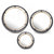 Round Metal Frame Wall Mirrors, Set of Three, Gray and Gold - BM229475