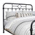 Pipe Design Metal Queen Headboard with Curved Corners, Black - BM230381
