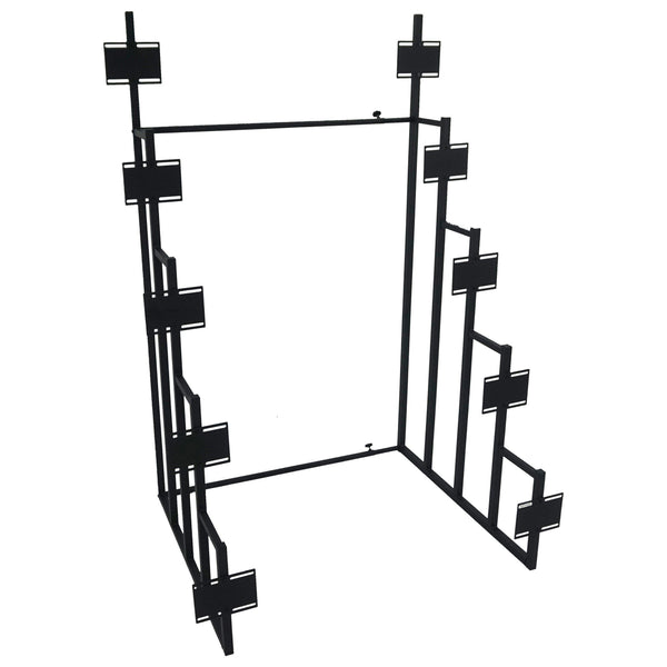 Convertible Design Metal Display Headboard Rack, Black - BM230448