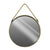 Round Shaped Metal Mirror with Rope Handle, Large, Brass - BM230520