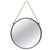 Round Metal Mirror with Rope Handle, Small, Gray - BM230587