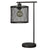 Caged metal Drum Shade Desk Lamp with USB Dock, Black - BM230983