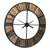 39 Inches Wood and Metal Wall Clock, Brown and Black - BM231936