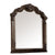 Modern Mirror with Crown Top Frame and Molded Details, Brown - BM232909