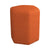 Hexagonal Shaped Fabric Stool with Padded Seat, Orange - BM233229