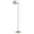 12 Watt LED Metal Frame Floor Lamp with Adjustable Head, Silver - BM233327