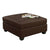 34 Inch Fabric Upholstered Ottoman with Button Tufting, Brown - BM233772