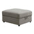 Fabric Upholstered Contemporary Style Storage Ottoman, Gray - BM233870