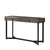 Rectangular Wooden Sofa Table with Metal Powder Coated Base, Gray and Black - BM233875