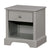 1 Drawer Transitional Wooden Nightstand with Open Compartment, Gray - BM235454