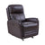 19 Inch Contemporary Recliner Leather Chair with USB, Brown - BM236616