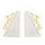 Marble Triangle Shape Bookend with Love Accent, White - BM238159