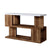 Two Tone Modern Sofa Table with Bottom Shelf, White and Brown - BM240041