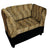 Sofa Pet Bed with Leopard Print Fabric and Storage, Gold and Black - BM240401