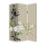 3 Panel Foldable Canvas Screen with Plum Blossom Print , Multicolor - BM26521