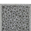 Transitional Sandstone Wall Decor with Bubble Pattern, Large, Gray - BM26616