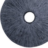 Ribbed Round Sandstone Wall Decor with Cut Out at Centre, Medium, Gray - BM26623