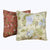 16 x 16 Two Piece Decorative Cotton Pillows with Floral Print, Multicolor - BM42259