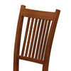 BM68967 Slat Back Mission Style Wooden Side Chair, Brown, Set of 2