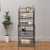 5 Tier Storage Metal Bakers Rack with Scrollwork Top, Gunmetal Gray - BM72842
