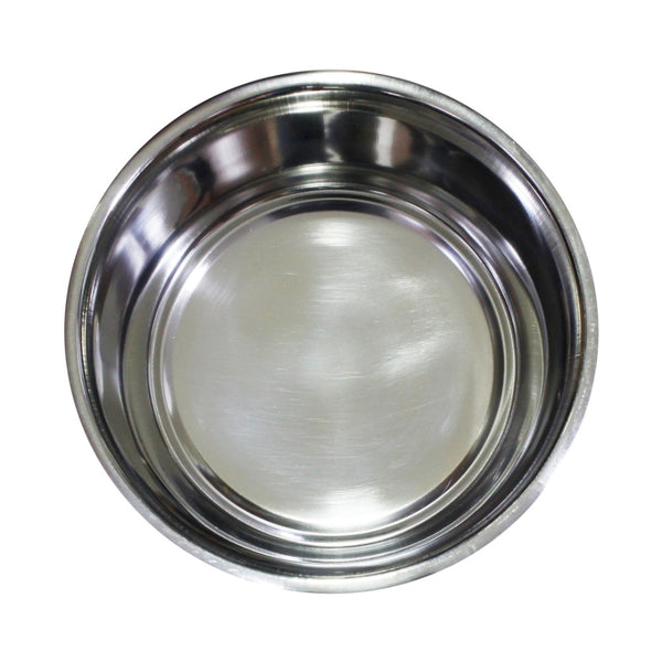 Stainless Steel Pet Bowl with Anti Skid Rubber Base and Dog Design, Gray and Pink-Set of 4 - BNC-10003-4