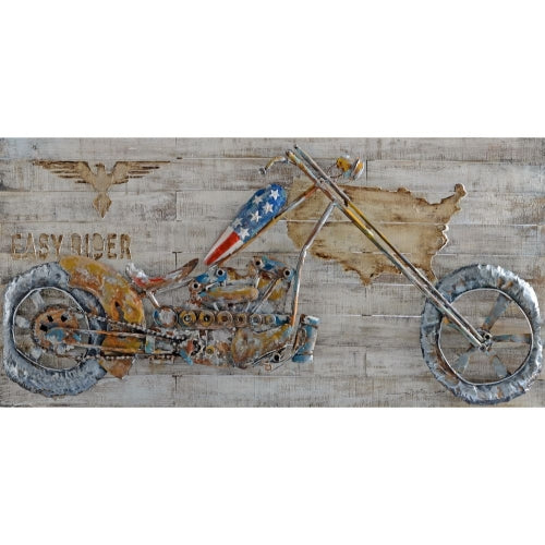 Motor bike Metal Art by Urban Port