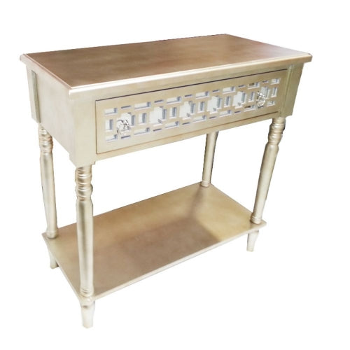 Appealing Gold TV Table Stand - Benzara