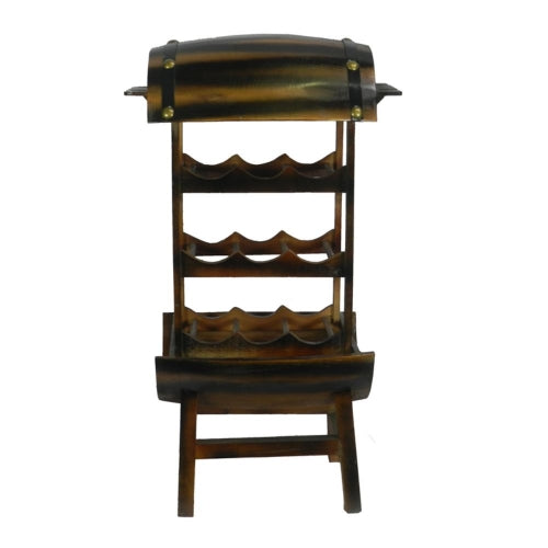 Remarkable 2 Tier Wine Rack - Benzara
