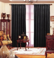 "Black Velvet Drape 55""X108"" Each Panel"