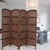 The Urban Port Handmade Foldable 4-Panel Wooden Partition Screen Room Divider, Brown - UPT-148948
