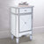 1 Door Storage Cabinet with 1 Drawer and Mirror Inserts, Gray and Silver - UPT-157137