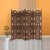 Handcrafted Wooden 4 Panel Room Divider Screen With Tiny Bells - Reversible - UPT-176787