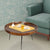 Round Mango Wood Coffee Table With Splayed Metal Legs, Brown and Black - UPT-183000