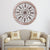 UPT-187976 Round Intricate Metal Scrollwork Wall Decor with Wooden Frame, Cream and Brown