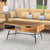 Wood and Metal Coffee Table with Spacious Storage, Brown and Black - UPT-195126