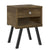 25 Inch Wooden End Side Table Nightstand with Drawer & Splayed Legs, Rustic Brown - UPT-225276
